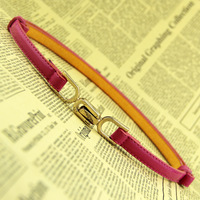 Free Shipping!!! Hot-Sale Products!!! Han Edition Candy Color Adjustable Buckles Slender Belt .