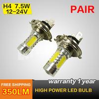 H4 7.5W  PAIR HIGH POWER LED BULBS CAR HEADLIGHT FOG LAMP 12/24V REPLACE HALOGEN XENON