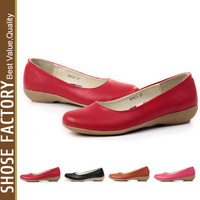 2013 new fashion leather shoes new simple OL slope with single  flats shoes women  - xh019