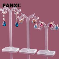 Free Shipping  Pmma Fashion Flame Shape Ear Studs Holder Jewelry Earring Organizer Set