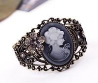 ZH0556 Good Quality Fashion Vintage christmas bracelet  Lady cameo bracelet  Rhinestone bracelet