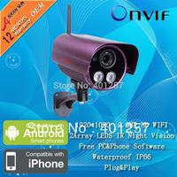 H.264 2.0 Megapixel 1080P HD Onvif Array IR Outdoor Security Network WIFI IP Wireless Camera
