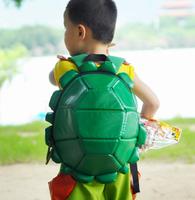 Boy's ninja turtles bag travel tactical mochilas Unique  Sof PU leather Tortoise cuckold Teenage Mutant Ninja Turtles backpack