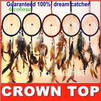 HOT!!! Guaranteed 100% beautiful dream catcher  1 piece/lot ,6 colours( choose)  , Free shipping,Diameter :11cm