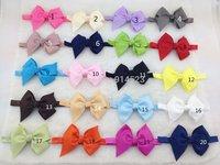 100PCS/LOT 20 colors wholesale   ,4.3 inch BIG  hair bows, baby hairband flower girl,fascinators,headbands