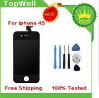 Free shipping for iPhone4s LCD Screen LCD Display Digitizer Frame assembly Brand New free repair tools