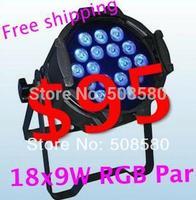 4pcs/lot,DJ LED Light Par 18 pcs x 9W RGB 3in1 Disco KTV Light Stage Bar DMX Party Wedding Concert Show Light Decoration