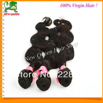New Queen hair products,Brazilian virgin hair,Body wave 3pcs lot,Grade 5A,100%  hair extension ,No smell,free shipping