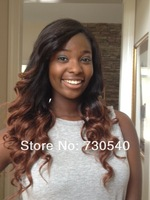 Two tone color 1B T#33 fashion wavy virign Peruvian human hair  FULL LACE wig wholesale price available Fast delievery(343)