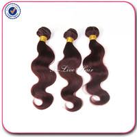 7A virgin hair brazilian body wave hair extension human 99j#  3pcs lot free shipping brazilian body wave human hair weave