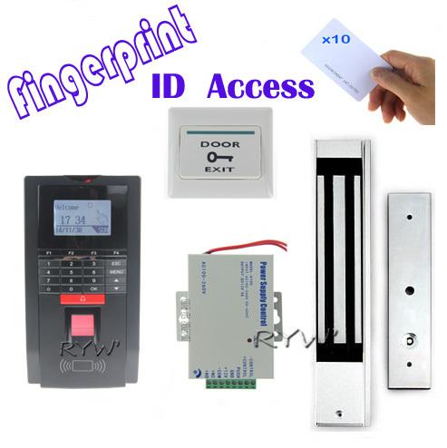 Volle fingerprint+ id-kartenleser tür Zutrittskontrolle kit +power+lock+5 id-karten