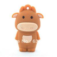 strong bull Cute cartoon cow funny animal usb flash drive gift/custom/promotional usb stick 4GB 8GB 16GB  Free Shipping