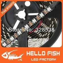 4M Built-in WS2812B Black board LED strip,240 LED 240 pixel matrix LED strip,Not waterproof, Display DIY led strip(China (Mainland))
