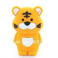 Zodiac cartoon brave tiger funny animal usb flash drive custom/promotional plastic memory stick4GB 8GB 16GB    Free Shipping