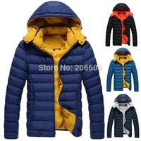 New arrival hooded parka for men casual autumn winter jacket coat for men 4 colors M--3XL
