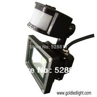 5pcs / lot  sensor flood light 10W , outdoor light led, IP65 fluter lamp