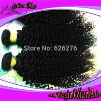2013 New Arrival Collen hair products aaaaaa grade peruvian kinky tight curly Virgin UNprocessed human weft extension bundle