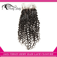 "free  parting 10"" -20"" brazilian Virgin Remy afro kinky curly Hair Top lace Closure/ human hair good quality"