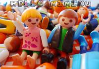 Free shipping 5pcs/lot 5 cm Playmobil Doll paddle pop mobi building blocks of people Medium imaginext Toys
