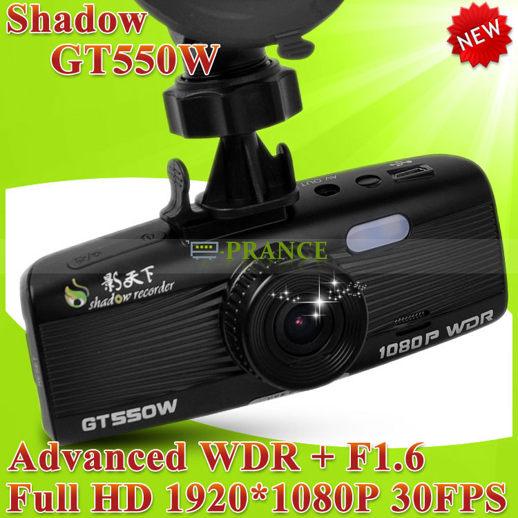 100% Original Shadow GT550W & GT550WS Car DVR Recorder Advanced WDR+Full HD 1080P 30FPS+G-Sensor+Night Vision+Car Plate Stamp(China (Mainland))