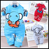 new 2013 autumn -summer spring cartoon baby set clothing 6~24 month 3color free shipping