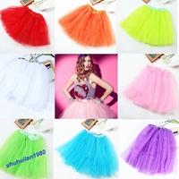 Free Shipping 1 Pc 11 Colors 3 Layer TUTU BALLET SKIRTS BIG GIRLS TEENS  ADULTS Waist
