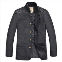 China Tang suit style New Freeshipping Autumn winter khaki gray Children boy Kids woolen long coat jacket outwear PFDS09P05