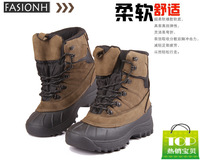 New 2014 Men's Boots Fashion Outdoor hiking shoes boots waterproof knee-high snow boots, Mens Genuine Leather shoes boots 5.5~12