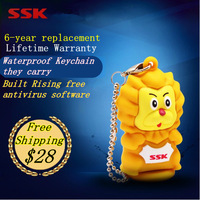 Ssk q usb flash drive mini usb flash drive 100%32gb cartoon lanyards waterproof usb flash drive 32g Mini gift Free Shipping