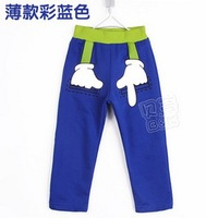 2013 New Arrival B&K Boys Children Personality Fist Finger Clothing Cotton Pants Baby Sneakers Pants Long Trousers kz0788