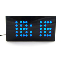 Large Size Font Multi-function LED Digital Clock Dot Shape Display House Alarm Clock With Timer  Free Shipping