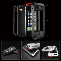 BRAND Waterproof Shockproof  Aluminum AluminumMetal Cases with Tempered glass cover for iPhone 4 4S