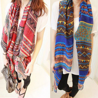 2013 Fall and Winter Fashion women's aztec print scarves Bohemia scarf rhombus graphic geometric patterns large cape scarfs