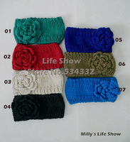 Fashion Headband Headwear Knitted Accessories with Big Flower Crochet Handmade Band Fashion Lady Milly's Life Show