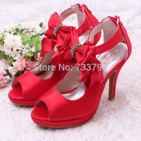 Free Ship Top Quality Wedding Bridal Prom Shoes Rhinestone Satin 10CM High Heels Women Pumps