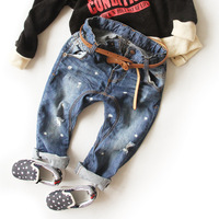 2013 New Arrival fashion Classic Children's Hole Jeans, Cool Long Pants, Causal Kids Pants Trouser, freeshipping
