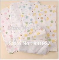 Free shipping 10pcs/lot Baby Handkerchief Double-layer Gauze Handkerchief To Baby Wipe Saliva Baby Handkerchief To Wipe Mouth