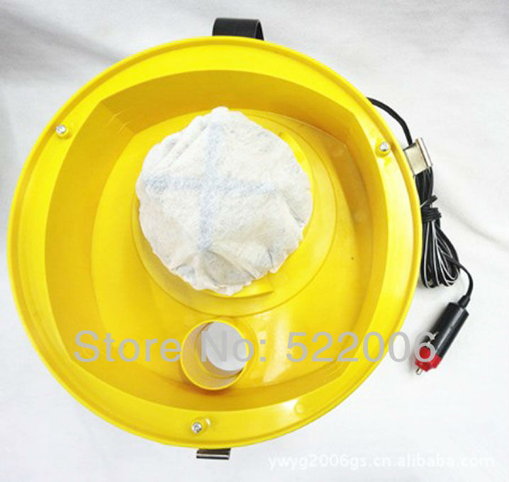 Free shipping 12v dc 95w vacuum cleaner dust collector wet and dry used with cigarette lighter plug for car, housing used.