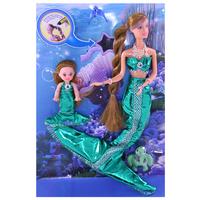 High quality ! Free Shipping classic Family Mermaid Doll Gift Set 8G846  beautiful princess, toys mermaid