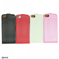 For iphone 5 5g Brand New Luxury Carbon Fiber Case Leder Tasche Case Cover  Free Shipping-ip5010