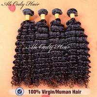 "Peruvian Virgin Hair Deep Curly Extension 4Pcs Lot,6A Peruvian Remy Hair Natural Black Hair 8""-30"",Can Be Dyed Human Hair Weaves"