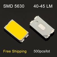 Free shipping high light led smd 5630 leds 40-45lm 6500K Leds chip lamp warm white light for led light string par light