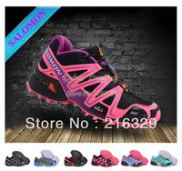 Free Shipping 2013 women's Salomon Running shoes women Sport Shoes womens SPEEDCROSS 3 CS Sneakers 36-39 Wholesale Price