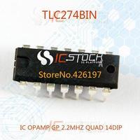 TLC274BIN IC OPAMP GP 2.2MHZ QUAD 14DIP 274 TLC274 3pcs