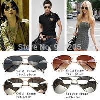 Fashion Men Women Metal Shades Classic Eyewear Retro Aviator Dark Tint UV400 Sunglasses