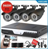 4ch CCTV System NVR 800TVL IR weatherproof Cameras 4ch 960H DVR Recorder,USB 3G WIFI,DVR Kit with 1TB HDD+Free Shipping