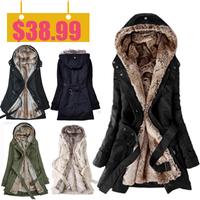 Warm Winter Coat Jacket Outerwear Faux Fur Lining Women's Fur Jackets Parka Overcoat Roupas Woman Clothes Chaquetas Mujer Casaco