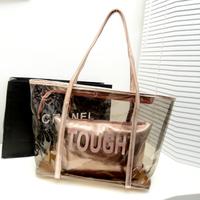 2013 Hot-selling Transparent Handbag Tote Casual Jelly Cheap Bag Women's Bag Handbag Cross-Body Shoulder Hand Bag /FREE SHIPPING