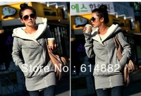 2013 Autumn and Winter New Fashion Female Hoodies Winter  Velvet Warming Sweatershirts Wholesale