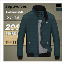 Seven authentic jacket male Wolf of new fund of 2014 autumn winters is pure color big size men's jacket XXXL XXXXL free shipping